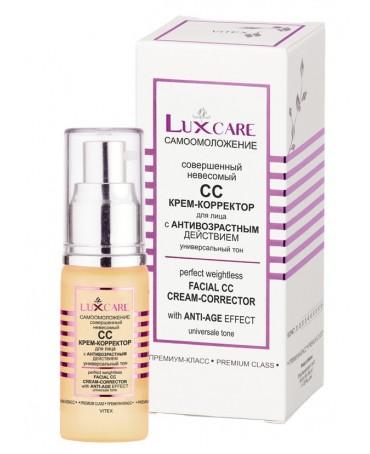 Lux Care korekcinis CC kremas su spalva be odos apsunkinimo skirtas veido apsaugai nuo senėjimo 30 ml
